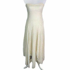 Free People Polka Dot Lace Asymmetric Tube Dress